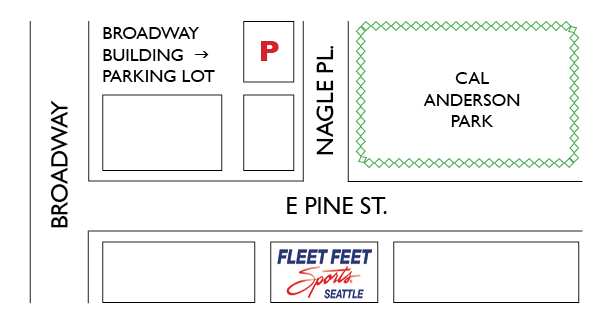 Parking at Fleet Feet Seattle